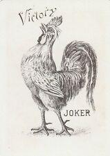 VICTORY JOKER -  DESIGN -  1 old wide single vintage playing card