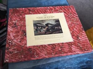 OPTIMAGO HAND CUT WOODEN JIGSAW PUZZLE ' LEAVING THE JUNCTION ' 308 PIECES