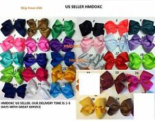 """Hair Bows Girls Baby Hairbow Big Boutique Hair Bow 5.5"""" Lot Of 10 bows 29 Colors"""