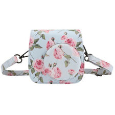 Flower Instax Mini8 Mini9 Camera Leather Case Shoulder Bag Cover For Fujifilm