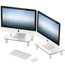 FITUEYES Monitor Stand Height Adjustable Leg Desktop Screen Riser Shelf, 2 Pack