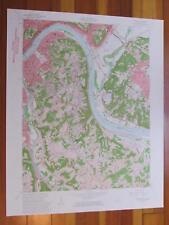 Newport Kentucky 1963 Original Vintage USGS Topo Map