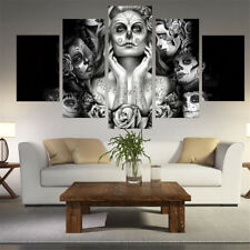 Printed Day Of The Dead Face Painting On Canvas Room Decor Wall Decor Poster New
