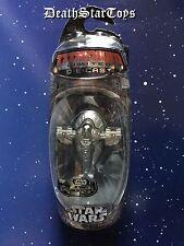 Star Wars Titanium Series Die Cast Metal Silver Boba Fett Slave I UGH Hunt Jango