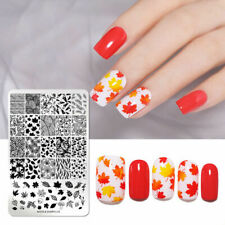 Nail Art Stamping Plate Image Autumn Fall Winter Leaf Fern Leaves Autumnal NDL14