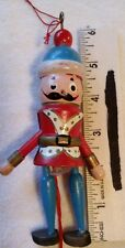 Small Vintage String Pulled Jumping Toy Soldier