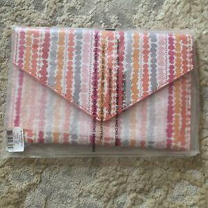 NWT vera bradley envelope wallet confetti stripe