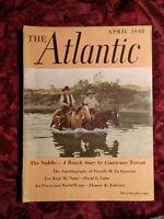 ATLANTIC April 1948 Courtenay Terrett George Santayana Geoffrey Household