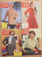 Lot 4 Revues Magazines Journal Le Petit Écho De La Mode 1956