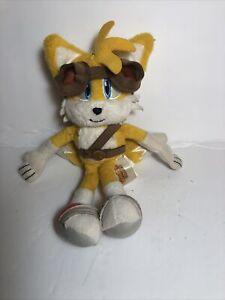 """Sonic The Hedgehog Sonic Boom TAILS Plush Toy Doll TOMY 2014 Rare 8"""" Sega"""