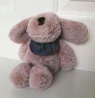 "Next Puppy Dog with Blue Scarf Beanie Plush Soft Hug Toy Comforter H 10"""