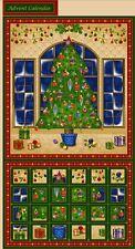 Season's Greetings Christmas Tree Advent Calendar Quilting Panel Fabric 40102