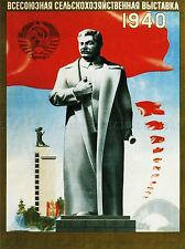 AGRICULTURE SOVIET UNION STALIN RED FLAG STATUE UNCLE JOE RUSSIA POSTER 1650PYLV
