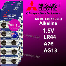 200~100~50~20~10 x Mitsubishi LR44 0%Hg Battery A76/AG13 Button Cell Batteries