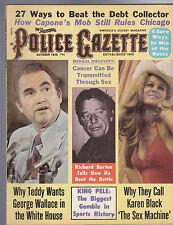 National Police Gazette George Wallace Richard Burton Karen Black October 1975
