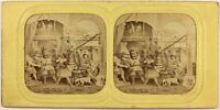Il Ritorno Da Ménélas Mitologia Foto c1860 Diorama Stereo Vintage Albumina