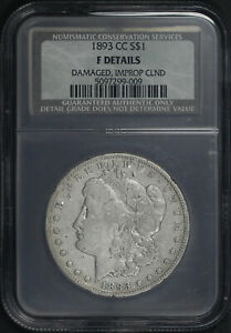 1893-CC Morgan Dollar Damaged, Improperly Cleaned