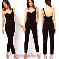 Overall donna tutina tuta monospalla pantaloni abito nuova elegante DL-1165