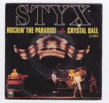 SP 45 TOURS STYX ROCKIN THE PARADISE A&M RECORDS AMS 9177 en 1981