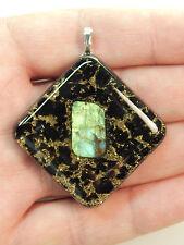 Labradorite Tourmaline Orgone Pendant Black Sun Quartz Crystals Jewelry (LP2)