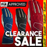 FIA Sabelt Touch E FG-310 Blue Red Racing Rally Gloves CLEARANCE SALE