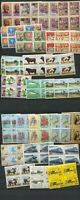 British Colonials 34 Different Mint Never Hinged Topical BLOCKS of FOUR