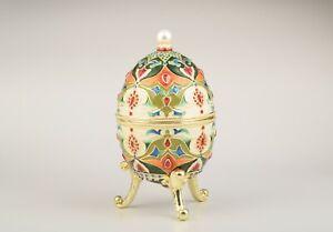 Music Large Faberge Egg Trinket Box  Handmade by Keren Kopal Austrian Crystals