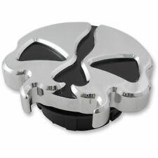 Drag Specialties Chrome Dummy Split Skull Gas Cap for 1996-2018 Harley