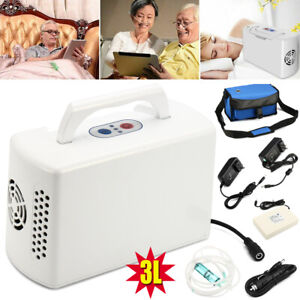 3L Portable Oxygen-Concentrator-Generator & Battery-Health-Care Home/Travel/Car
