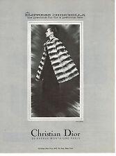 PUBLICITE  1968   CHRISTIAN  DIOR   boutique fourrure