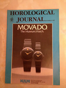 NOV 1987 HOROLOGICAL JOURNAL MAGAZINE - ENGLISH CLOCKMAKING TODAY