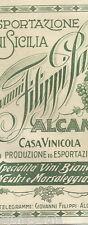 SICILIA_ALCAMO_ENOLOGIA_VINI_MARSALA_VINICOLA FILIPPI_ANTICA PUBBLICITARIA_1927