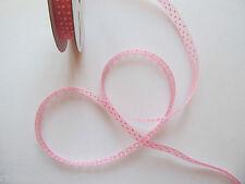 Polka Dot Organza Ribbon 10mm Wide 7 METRE Reel  7m Roll Spotty Dotty