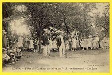 cpa RARE 69 - LYON (Rhône) FÊTES des ÉCOLES du 1er Arrondissement Les JEUX Animé