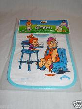 New 1994 Fred ,Pebbels The Flintstones Terry Cloth Baby Bib Hanna Barbera