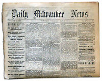 1865 Abraham Lincoln Assassination Trial Newspaper
