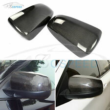 Real Carbon Fiber Replacement Mirror Covers Caps for BMW X5 X6 E70 E71 2008-2012