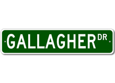 GALLAGHER Street Sign - Personalized Last Name Sign