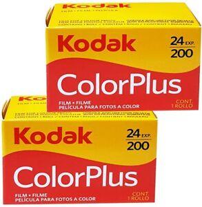 2 x Carretes Kodak Color Plus fotos 24 / 36 . Pack 2 Películas de 35mm 200 Asas