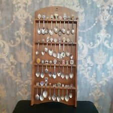 36 Vintage Souvenir Collectable Tea Spoons With a Stand Inc Silver Plated