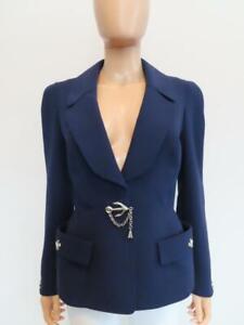 Vintage Thierry Mugler Navy Blue/Nautical Blazer/Jacket Size 42/US 6