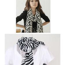 150cm Fashion Women Zebra Animal Print Shawl Lady Long Zebra Large Stripe Scarf