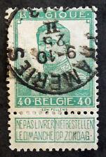 Timbre BELGIQUE / BELGIUM Stamp - Yvert Tellier n°114 obl (cyn21)