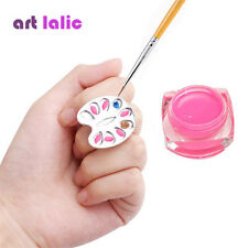 Nail Art Ring Color Palette Alloy Metal Nail Painting Drawing UV Gel Nail Tools