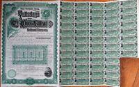 Talladega & Coosa Valley Railroad Company 1889 Stock/Bond Certificate-Alabama AL