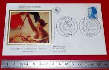 ENVELOPPE 1er JOUR PHILATELIE 1984 MARIANNE DELACROIX LIBERTE GUIDANT LE PEUBLE