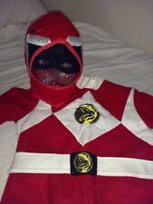 Vintage Halloween Costume Red Power Ranger, Dinosaur, Handmade 1993-4
