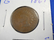 1867 Indian Head Small Cent Choice G Nice Coin Free Shipping!