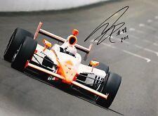 Dan Wheldon main signé Honda Indy 500 Photo 16x12.