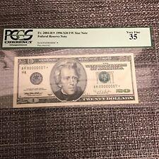 FR#2084-H* 1996 $20.00F.R.N Serial #AH 00000007*PCGS Very Fine35